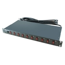 A-Neutronics 10 Outlet 1U Rack Mount PDU w/Individual Switches MLSL-11510