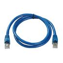 Ziotek 1ft Cat6a STP Patch Cable with Boot, Blue ZT1197243