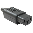 Generic 1212616 IEC C13 Power Cord Plug Connector, Black