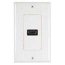 Generic 1800113 1 Port HDMI Wall Plate, Off White