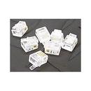 Ziotek RJ11 6P6C Modular Plug Connectors, Clear, 100 Pack ZT1800450