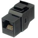 Ziotek CAT6 Inline Faceplate Coupler Black ZT1800531