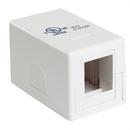 Generic 1800601 Keystone Surface Mount Box, Single Port, White