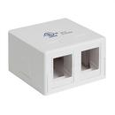 Generic 1800603 Keystone Surface Mount Box, Dual Port, White