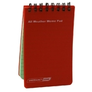 Emergency Zone Waterproof Notebook, 218