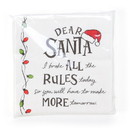 Enesco 6004381 ENTMT Dear Santa Rules Napkins