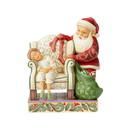 Enesco 6004489 Santa Behind Chair by Child