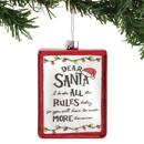 Enesco 6004663 ENTMT Dear Santa Rules Orn