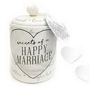 Enesco 6005719 Onim Jar Happy Marriage