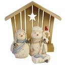 Enesco 6006537 Snowman Nativity