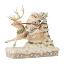 Enesco 6006579 Woodland Santa Riding Reindeer
