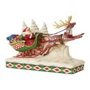 Enesco 6006635 Santa on Sleigh with Reindeer