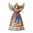 Enesco 6006649 Nativity Angel w/Peace Banner