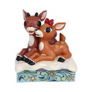 Enesco 6006790 Rudolph & Clarice Laying Down