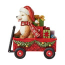 Enesco 6007444 Christmas Dog in Wagon