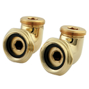 Kingston Brass ABT136-2 L Shaped Modified Swing Arms for CC458T2 Series, Polished Brass