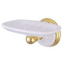 Kingston Brass BA1115PB Wall Mount Soap Dish, Polished Brass