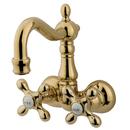 Kingston Brass CC1077T2 Wall Mount Clawfoot Tub Filler, Polished Brass