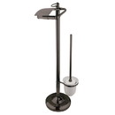 Kingston Brass CC2015 Pedestal Toilet Paper and Brush Holder, Oil Rubbed Bronze