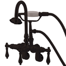 Kingston Brass CC301T5 Wall Mount Clawfoot Tub Filler with Hand Shower, Oil Rubbed Bronze