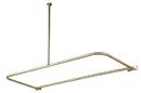 Kingston Brass CC3138 D-Type Shower Rod, Satin Nickel