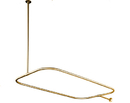 Kingston Brass CC3152 Shower Ring with Ceiling Support, Polished Brass