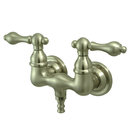 Kingston Brass CC31T8 Wall Mount Clawfoot Tub Filler, Satin Nickel