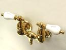Kingston Brass CC33T2 Wall Mount Clawfoot Tub Filler, Polished Brass