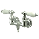 Kingston Brass CC36T1 Wall Mount Clawfoot Tub Filler, Polished Chrome