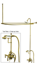 Kingston Brass CCK3142AL Clawfoot Tub Package with 22