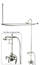 Kingston Brass CCK3181AL Clawfoot Tub Package with 22