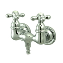 Elements of Design DT0321AX Wall Mount Clawfoot Tub Filler, Chrome, Polished Chrome