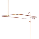 Elements of Design DT0612CL Clawfoot Tub Filler & Shower System, Polished Brass