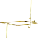 Elements of Design DT0612PL Clawfoot Tub Filler & Shower System, Polished Brass