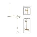 Elements of Design DT0618CL Clawfoot Tub Filler & Shower System, Satin Nickel