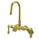 Elements of Design DT0812AL Wall Mount Clawfoot Tub Filler, Polished Brass