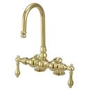 Elements of Design DT0912AL Deck Mount Clawfoot Tub Filler, Polished Brass