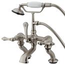 Elements of Design DT4098AL Deck Mount Clawfoot Tub Filler with Hand Shower, Satin Nickel