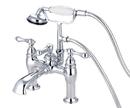 Elements of Design DT6041AL Deck Mount Clawfoot Tub Filler with Hand Shower, Polished Chrome