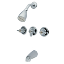 Elements of Design EB130 Three Handle Tub & Shower Faucet, Polished Chrome