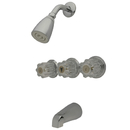 Elements of Design EB131 Three Handle Tub & Shower Faucet, Polished Chrome