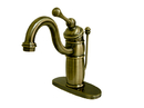 Elements of Design EB1403BL Single Handle Mono Deck Lavatory Faucet with Retail Pop-up & Optional Deck Plate, Vintage Brass