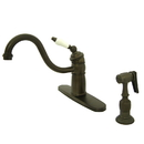 Elements of Design EB1575PLBS Single Handle Kitchen Faucet With Brass Sprayer, Oil Rubbed Bronze