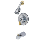 Elements of Design EB1634T Trim Only for Single Handle Tub & Shower Faucet, Polished Chrome/Polished Brass