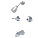 Elements of Design EB241AL Two Handle Tub & Shower Faucet, Polished Chrome