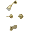 Elements of Design EB242AL Two Handle Tub & Shower Faucet, Polished Brass Finish