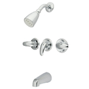 Elements of Design EB6231LL Three Handle Tub & Shower Faucet, Polished Chrome