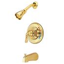 Elements of Design EB632 Single Handle Tub & Shower Faucet, Polished Brass Finish