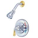 Elements of Design EB634SO Single Handle Shower Faucet, Polished Chrome/Polished Brass