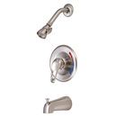 Elements of Design EB698 Single Handle Tub & Shower Faucet, Satin Nickel